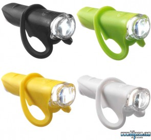 Luce anteriore bicicletta a led in silicone colorata