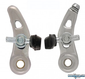 Freni Bicicletta V-Brake alluminio 4 pezzi Cantilever pattini 63mm