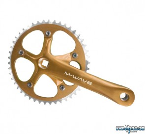 Guarnitura bicicletta Fixed pista oro