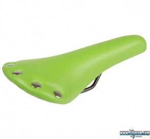 Sella bicicletta pista Fixed con borchie verde